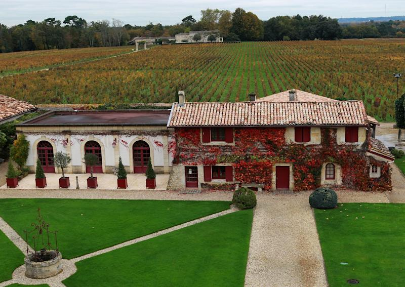 In this photo dated Wednesday, Nov. 13, 2013, ouside view of Chateau Smith Haut Lafitte winery in Martillac, near Bordeaux, southwestern France. Counterfeiting has dogged wine as long as it has been produced, but it is getting more sophisticated and more ambitious, particularly as bottle prices rise due to huge demand in new markets, mainly in Asia. (AP Photo/Bob Edme)
