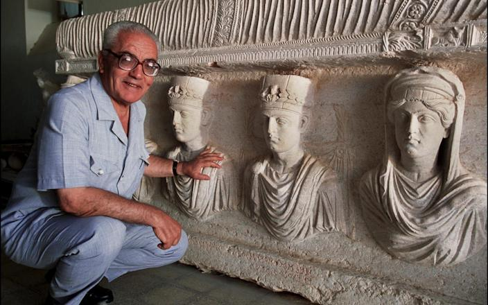 Khaled al-Asaad, the Director of Antiquities and Museum in Palmyra, was killed by Islamic State militants in 2015 - Marc Deville/Gamma-Rapho/Getty Images
