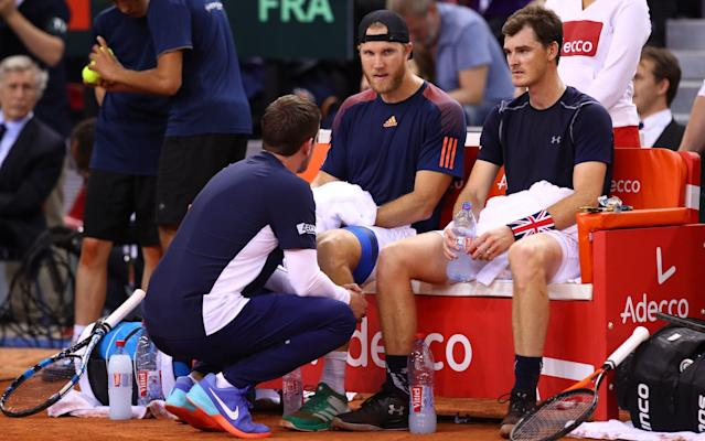<span>Dominic Inglot and Jamie Murray went down to defeat in four sets</span> <span>Credit: getty images </span>