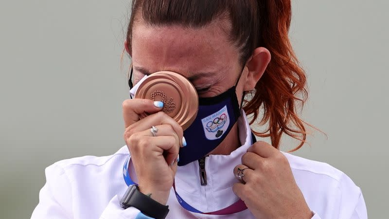 Shooting - Women's Trap - Medal Ceremony