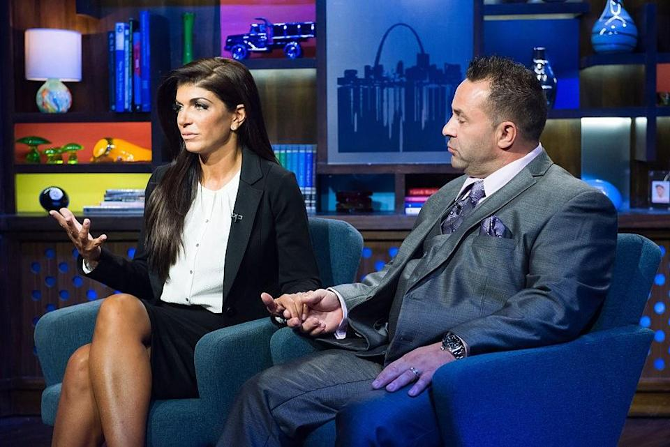 """<p>Teresa Giudice and Joe Giudice have reportedly ended their 20-year marriage, following a long separation that began when Joe served time in prison and was eventually deported to Italy. Teresa and the couple's daughters visited him in November (he had served five months in an ICE detention facility before going back to the country where he was born), but sources suggest """"long-distance and lack of free time"""" contributed to their decision to go their separate ways.</p> <p>""""Teresa and Joe's marriage is completely over. Teresa is in no rush to file for divorce, but their relationship is done,"""" a source told <a href=""""https://www.eonline.com/news/1033932/joe-and-teresa-giudice-split-after-20-years-of-marriage?fbclid=IwAR382LqctLIOoF_XlHLK2SUUTw7fhAiDPrIfVrrw9M-osfFDthsbZlyzH-Y"""" rel=""""nofollow noopener"""" target=""""_blank"""" data-ylk=""""slk:E! News"""" class=""""link rapid-noclick-resp""""><em>E! News</em></a><em>,</em> adding, """"Teresa is really focused on being an amazing mom to their daughters. She wants to keep things as stable as possible during this hard time surrounding the deportation. She doesn't want to crush them even more with news of a divorce.""""</p>"""