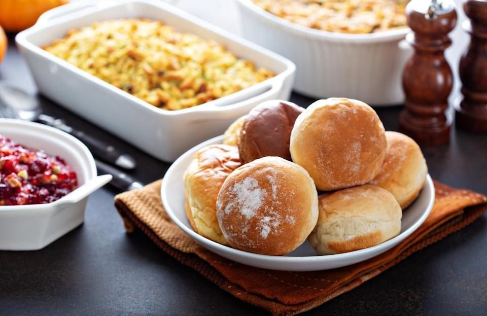 """<p>Unless you're Martha Stewart, trying to cook every individual component of your Thanksgiving dinner from scratch is pretty ambitious. Prioritize which dishes are most important to you and your family. If you're nostalgic for your mother's stuffing all year long, make the stuffing from scratch. But some lower-priority dishes, such as an appetizer, garden salad or rolls are among the <a href=""""https://www.thedailymeal.com/holidays/thanksgiving-dishes-buy-premade-gallery?referrer=yahoo&category=beauty_food&include_utm=1&utm_medium=referral&utm_source=yahoo&utm_campaign=feed"""" rel=""""nofollow noopener"""" target=""""_blank"""" data-ylk=""""slk:Thanksgiving dishes you may as well just buy at the store"""" class=""""link rapid-noclick-resp"""">Thanksgiving dishes you may as well just buy at the store</a>.</p>"""