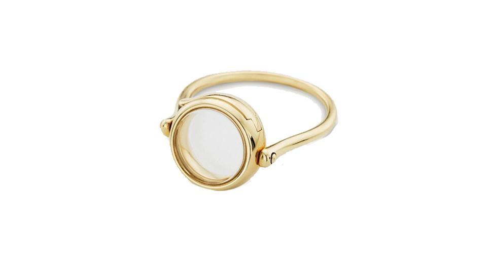 Small round loquet ring 9kt