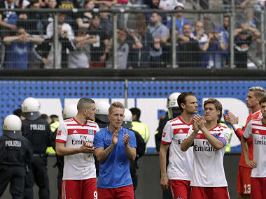 Hamburg were relegated from the Bundesliga for the first time in their history on Saturday, as a 2-1 win over Borussia Moenchengladbach proved too little too late.