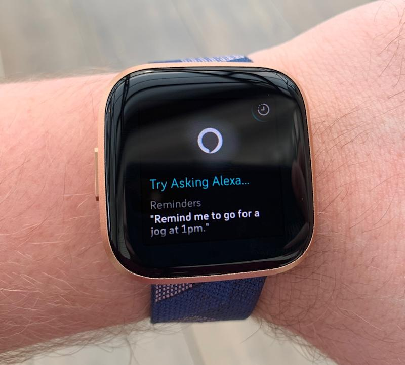 Fitbit and Amazon have teamed up to include Alexa in the Fitbit Versa 2. (Image: Howley)