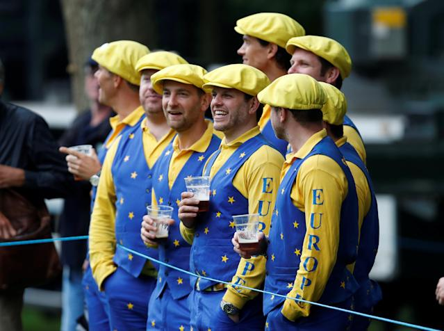Golf - European Tour - BMW PGA Championship - Wentworth Club, Virginia Water, Britain - May 24, 2018 Fans in fancy dress during the first round Action Images via Reuters/Paul Childs