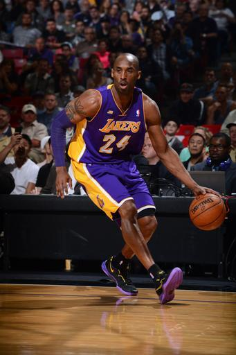 SACRAMENTO, CA - MARCH 30: Kobe Bryant #24 of the Los Angeles Lakers dribbles the ball against the Sacramento Kings on March 30, 2013 at Sleep Train Arena in Sacramento, California. (Photo by Garrett Ellwood/NBAE via Getty Images)
