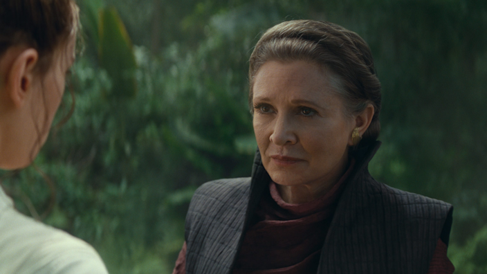 Carrie Fisher makes her last Star Wars appearance in Rise of Skywalker.