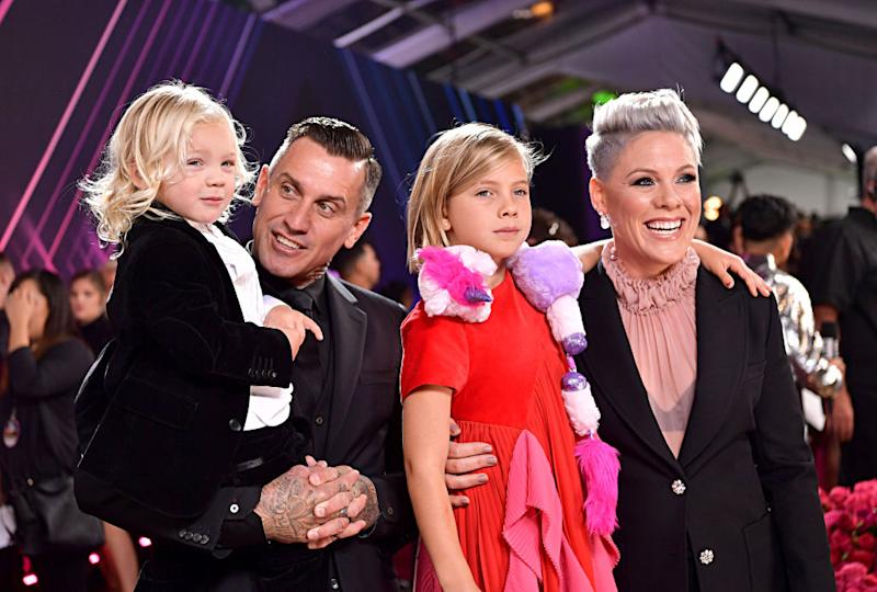 Carey Hart revealed new details of wife Pink and 3-year-old son Jameson's battle with COVID-19. (Photo by Emma McIntyre/E! Entertainment/NBCU Photo Bank via Getty Images)
