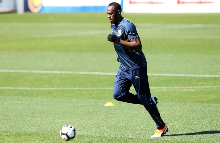 Superstar athlete Usain Bolt also celebrated his 32nd birthday while training for Australia's Central Coast Mariners on Tuesday