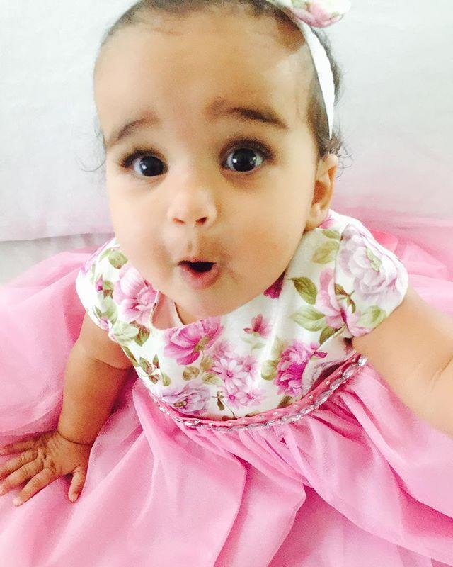 "<p>Blac Chyna captioned this adorable snapshot of her daughter in a sweet floral dress, ""<a rel=""nofollow"" href=""https://www.instagram.com/p/BY0LOCrnJxZ/?hl=en&taken-by=blacchyna"">My Dreamy</a>."" Baby Dream already loves the camera! (Photo: Instagram/Blac Chyna) </p>"
