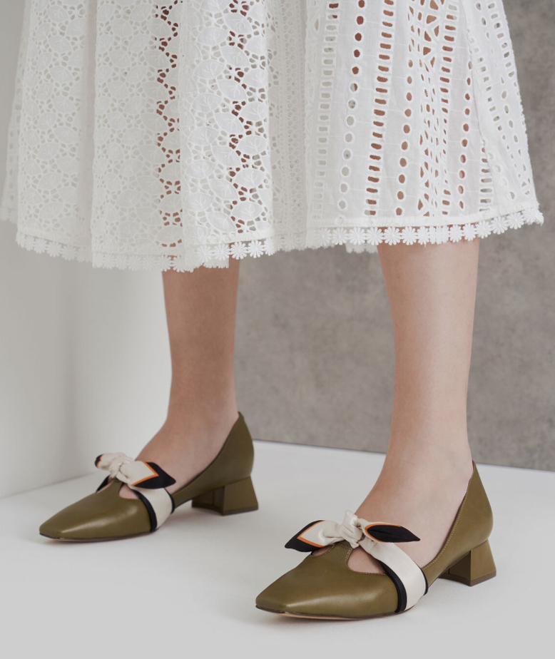 PHOTO: Charles & Keith. Knotted Strap Pumps, S$39.90 (was S$49.90)