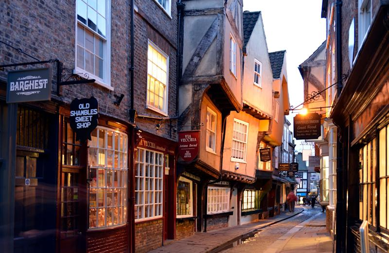 Shambles street in York: Getty