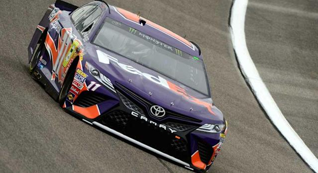 HOMESTEAD, Fla. — Three of the four Monster Energy NASCAR Cup Series Championship 4 drivers qualified near the top of the board in Friday's time trials at Homestead-Miami Speedway, but Denny Hamlin, who has his own agenda, stole the pole for Sunday's Ford EcoBoost 400 (3 p.m. ET, NBC, MRN and SiriusXM NASCAR Radio Channel …
