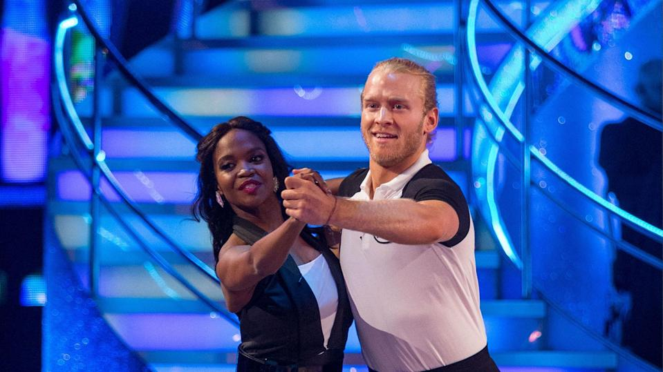 Oti is partnered with Jonnie in this year's series. Copyright: [BBC]