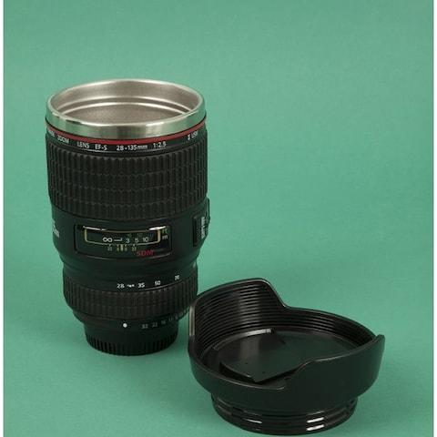 Travel lens coffee mug