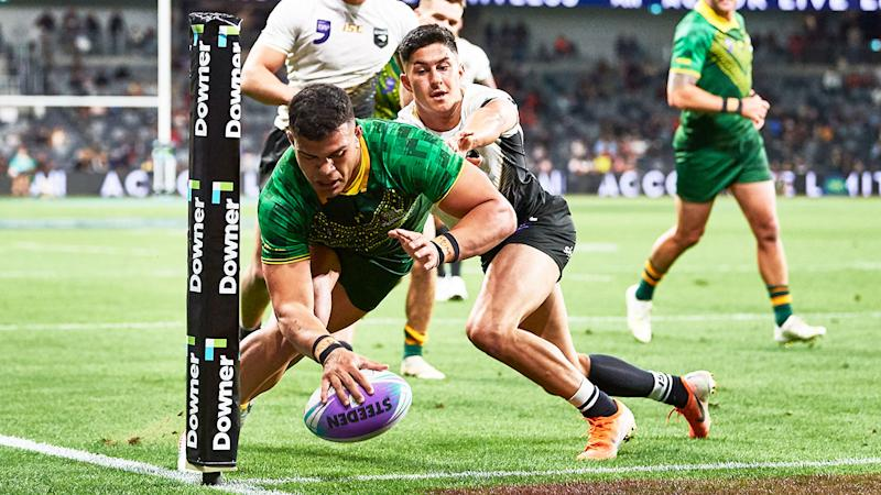David Fifita starred in Australia's World Cup nines win over New Zealand.