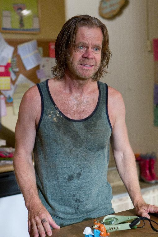 "In this image released by Showtime, William H. Macy portrays Frank Gallagher in a scene from the Showtime original series, ""Shameless.""  On ""Shameless,"" which also stars Emmy Rossum, the family's hardships and missteps can take outlandish turns. (AP Photo/Showtime, Sonja Flemming)"
