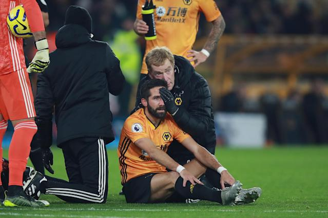 Joao Moutinho receives treatment (Credit: Getty Images)