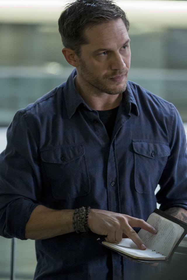 Tom Hardy as Eddie Brock in <em> Venom</em> (Photo: Frank Masi/Sony Pictures)