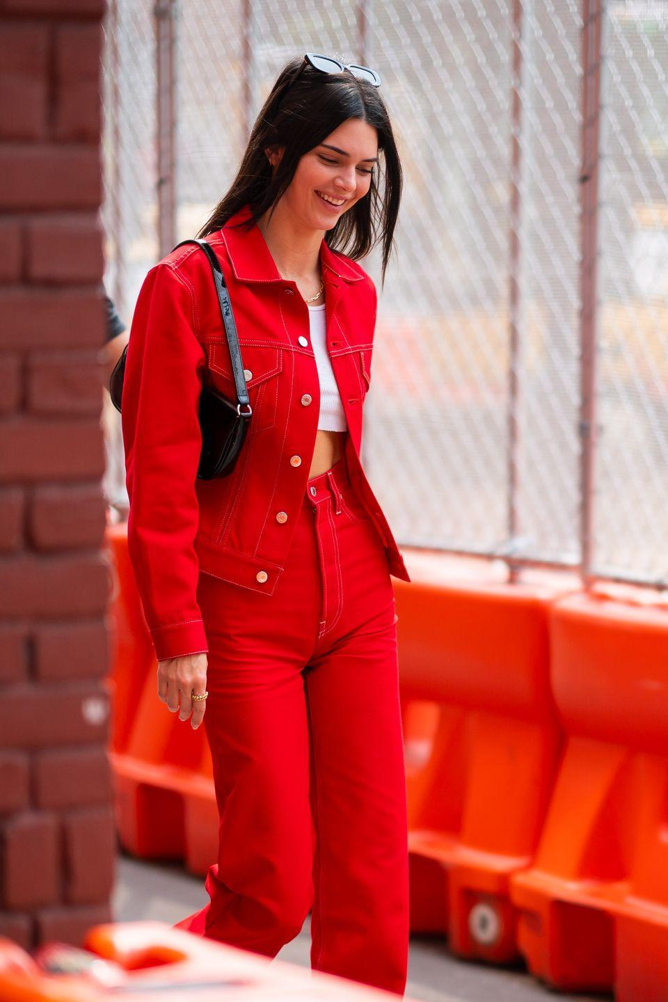 <p>Alright, I'll admit, monochromatic sets can be a <em>lot</em>. But they make for a great two-in-one. Wear together for a major statement or rock the pieces separately to tone it down a bit. <br><br></p>