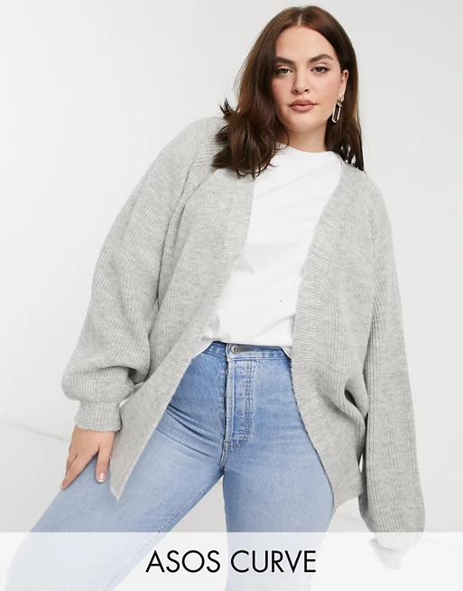 """<br><br><strong>ASOS CURVE</strong> Edge To Edge Boxy Cardigan, $, available at <a href=""""https://go.skimresources.com/?id=30283X879131&url=https%3A%2F%2Fwww.asos.com%2Fus%2Fasos-curve%2Fasos-design-curve-edge-to-edge-boxy-cardigan-in-gray%2Fprd%2F21683961"""" rel=""""nofollow noopener"""" target=""""_blank"""" data-ylk=""""slk:ASOS"""" class=""""link rapid-noclick-resp"""">ASOS</a>"""