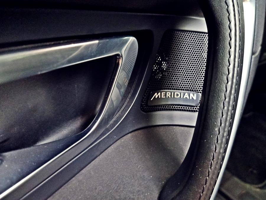 Equipment levels are generous and we like the massive glass roof, electric leather seats, 17-speaker Meridian audio, and the really good rear camera.