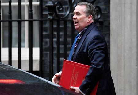 Britain's Secretary of State for International Trade Liam Fox arrives in Downing Street, London, Britain, November 20, 2018. REUTERS/Toby Melville