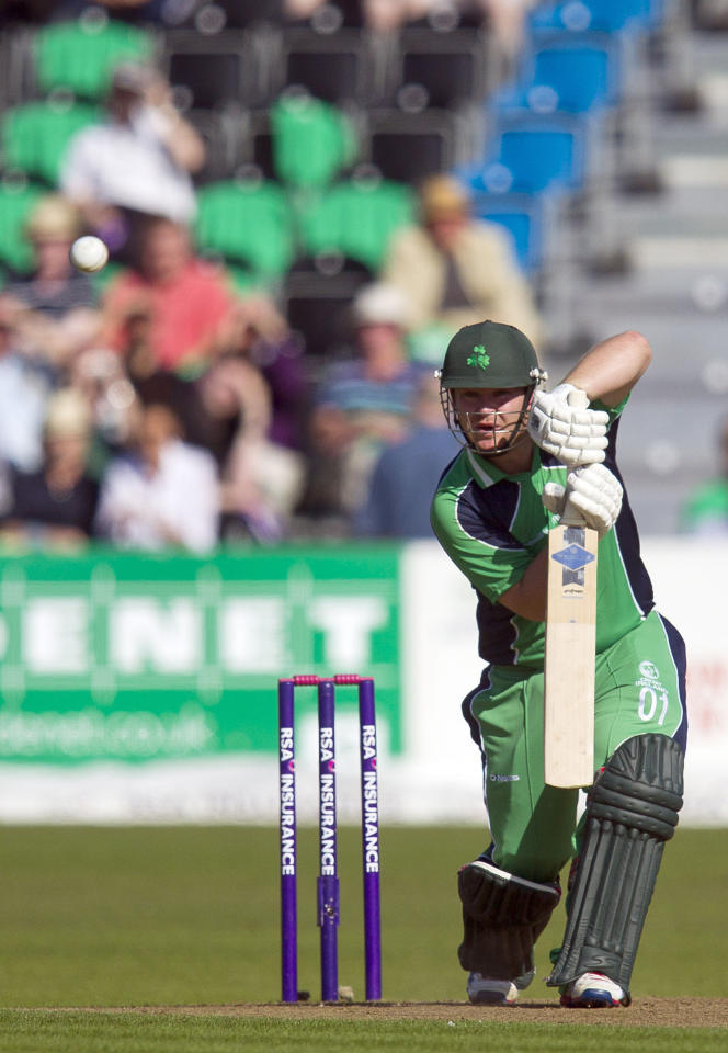 Ireland's William Porterfield during the One Day International at The Village, Dublin.