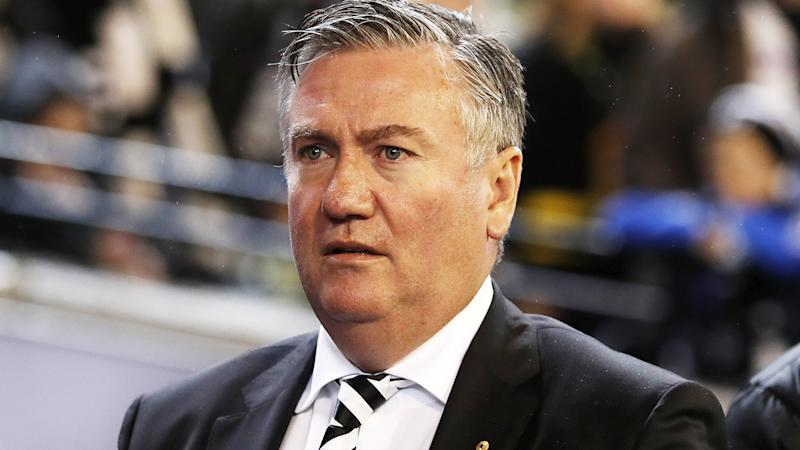 Eddie McGuire, pictured here during a Collingwood game in 2019.