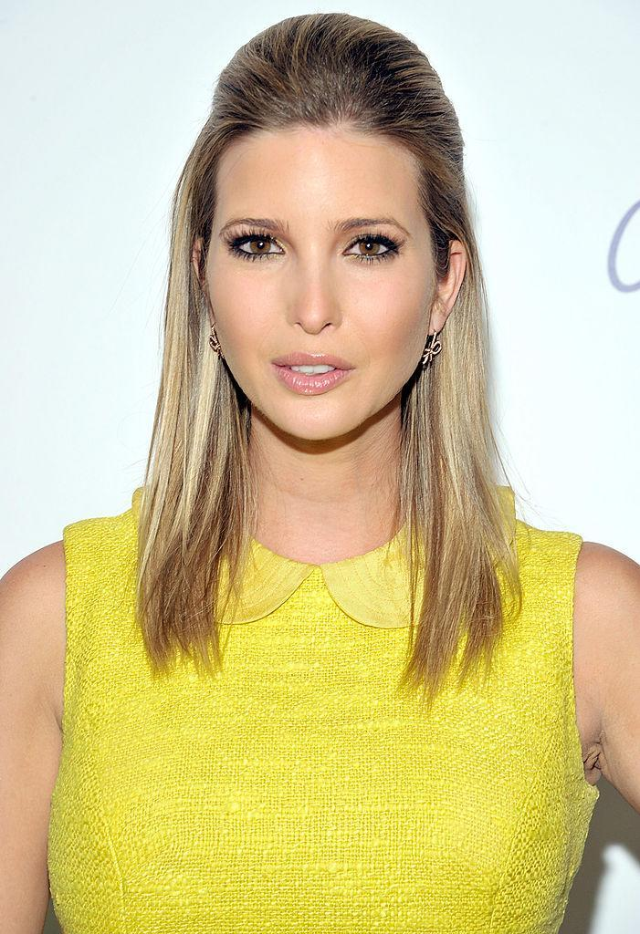<p>A pale pink lip matches well with a half-up, half-down sleek hairstyle. (Photo: Getty Images) </p>