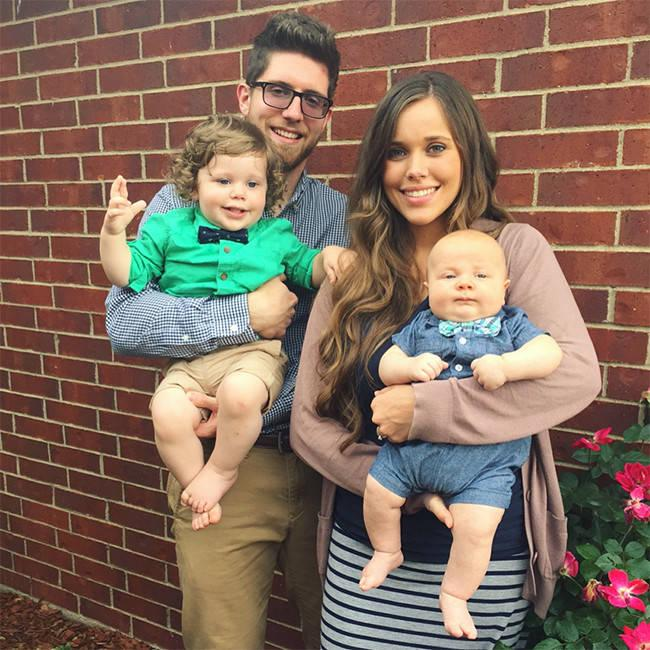 Jessa Duggar Seewald, husband Ben Seewald, and their two kids, Spurgeon and Henry.