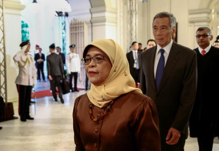 Halimah Yacob is the first Malay president of Singapore for almost five decades but the absence of an election has angered Singaporeans, with many venting their ire on social media