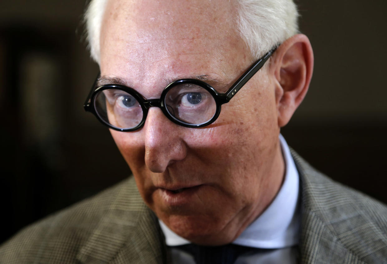 Roger Stone, a longtime adviser to President Trump, will appear before the House Intelligence Committee Sept. 26, 2017. (Photo: Seth Wenig/AP)