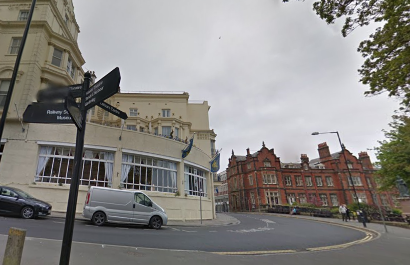 The incident happened outside Scarborough town hall. (Google)
