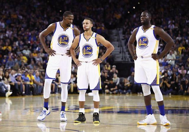 Despite not being the champs, the Warriors are still targets. (Getty Images)