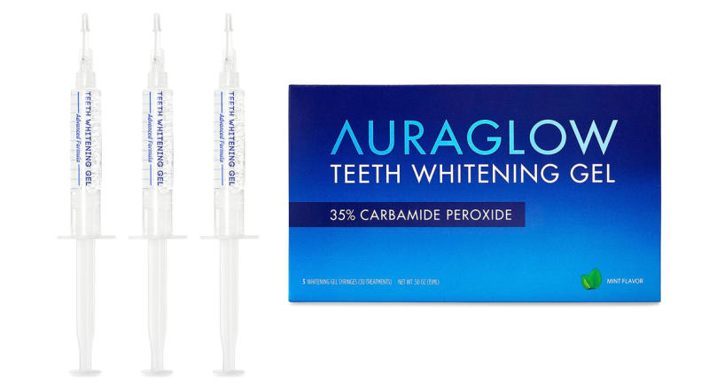 AuraGlow Teeth Whitening Gel Syringe Refill Pack (Photo: Amazon)