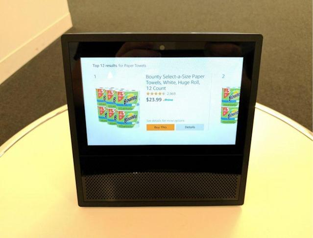 You can order items easily with the Echo Show, but can't check your entire shopping cart.