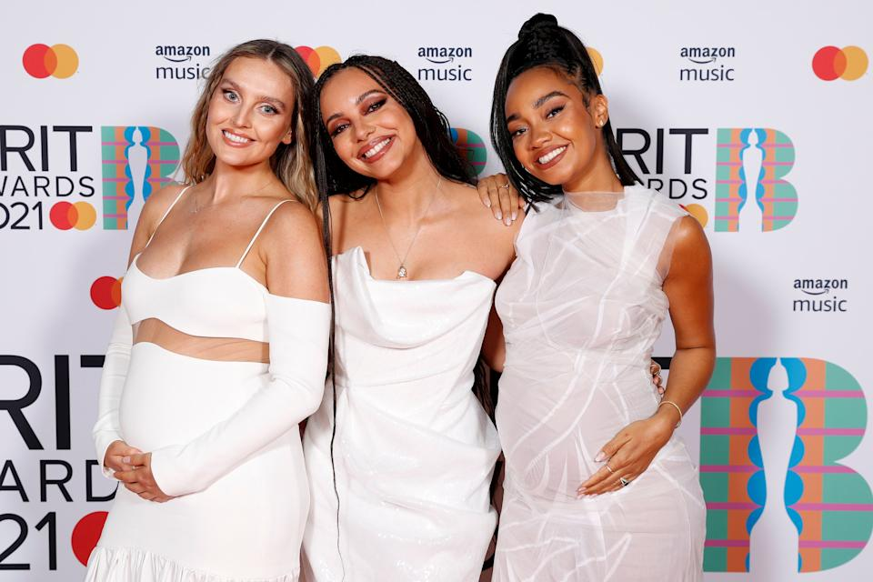 Perrie Edwards (left) and Leigh-Anne Pinnock (right) both announced their pregnancies this month (Photo: JMEnternational via Getty Images)