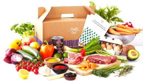 <p>Mindful Chef is a healthy recipe box delivery service, full of lean and sustainably-sourced ingredients. It was started in 2015 by Devonshire men Myles and Giles who were looking for a recipe box that was healthy. Gluten-free, no refined carbs and packed with locally sourced fresh, organic produce, if you're looking for a healthy box, this could be the one for you. [Photo: Sauce Communications] </p>