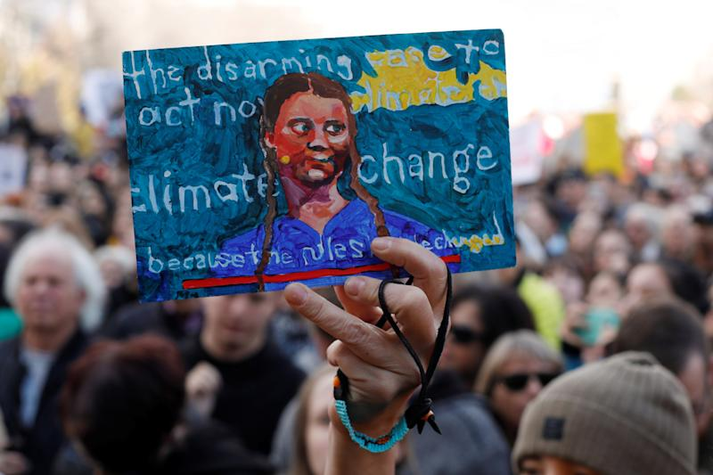 A climate change protest