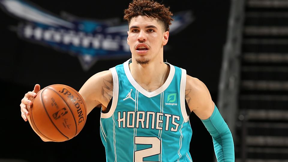 Charlotte Hornets rookie LaMelo Ball has continued his impressive rookie season in their recent win over the Toronto Raptors. (Photo by Kent Smith/NBAE via Getty Images)