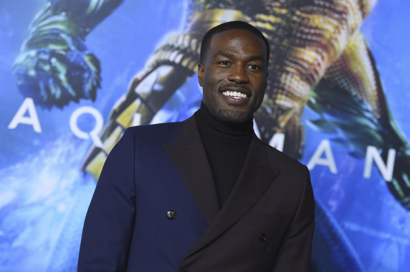 "Yahya Abdul-Mateen II arrives at the premiere of ""Aquaman"" at TCL Chinese Theatre on Wednesday, Dec. 12, 2018, in Los Angeles. (Photo by Jordan Strauss/Invision/AP)"