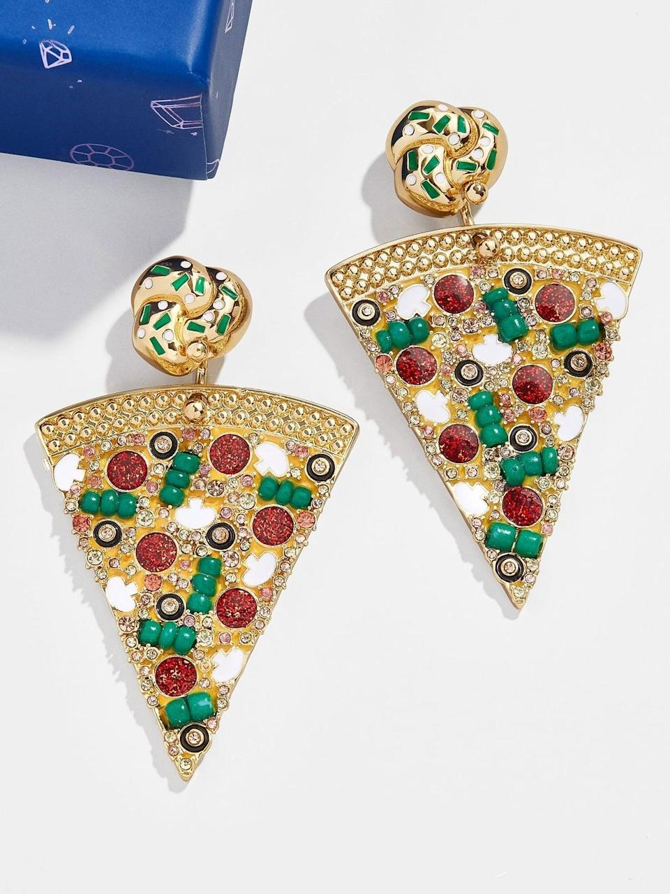 <p>Excuse me, these <span>BaubleBar Cheese the Day Drop Earrings</span> ($54), complete with garlic-knot studs, are straight-up genius. Get them as a stocking stuffer.</p>