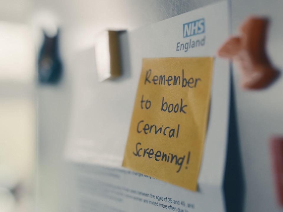 A still image from the Cervical Screening Saves Lives TV advertisement (Public Health England)