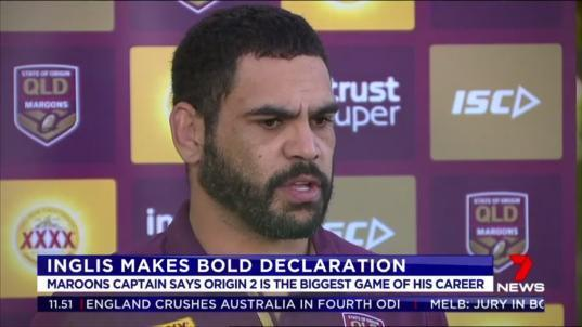 Maroons captain Greg Inglis says Sunday night's must-win clash with the Blues in Sydney is the biggest of his glittering 31 game Origin career.