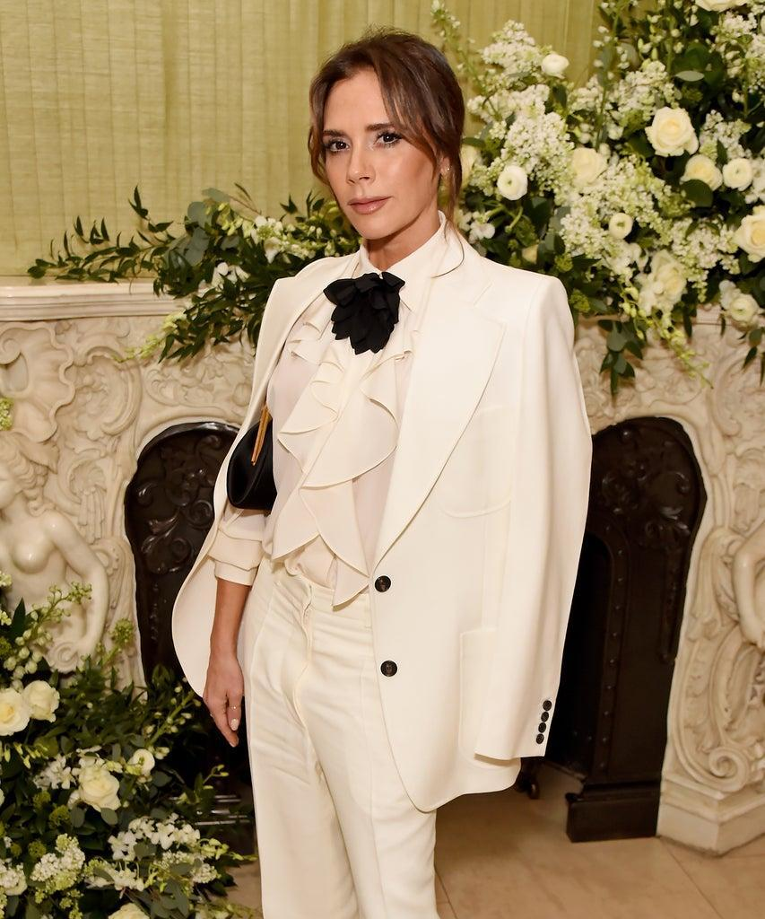 LONDON, ENGLAND – FEBRUARY 02: Victoria Beckham attends the British Vogue and Tiffany & Co. Fashion and Film Party at Annabel's on February 2, 2020 in London, England. (Photo by David M. Benett/Dave Benett/Getty Images)