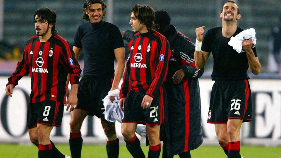 Pirlo e Gattuso in rossonero | PATRICK HERTZOG/Getty Images