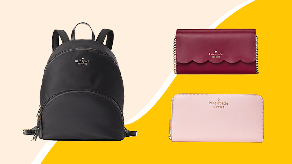 Shop discounts on backpacks, clutches and more at the Kate Spade Surprise sale.