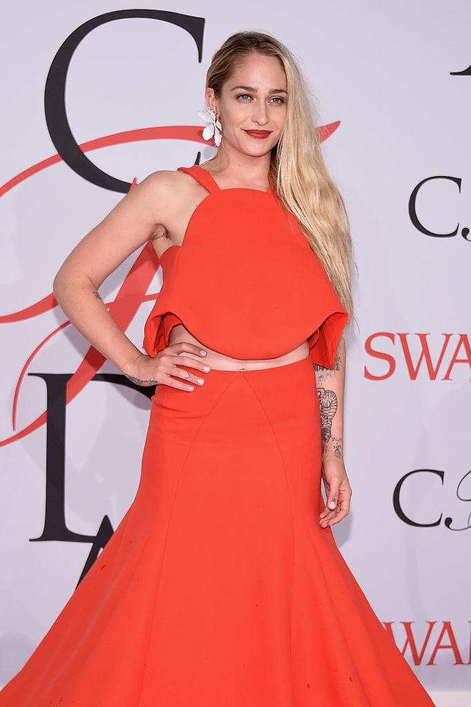 """<p>Social media was quick to call out Jemima Kirke for flaunting her unshaven pits at the 2015 CFDA Fashion Awards. But the """"Girls"""" star didn't let it affect her. She looked stunning in a floor-skimming Rosie Assoulin gown, and quickly shut down haters with close-ups on her pit hair. <em>(Photo: Getty)</em> </p>"""